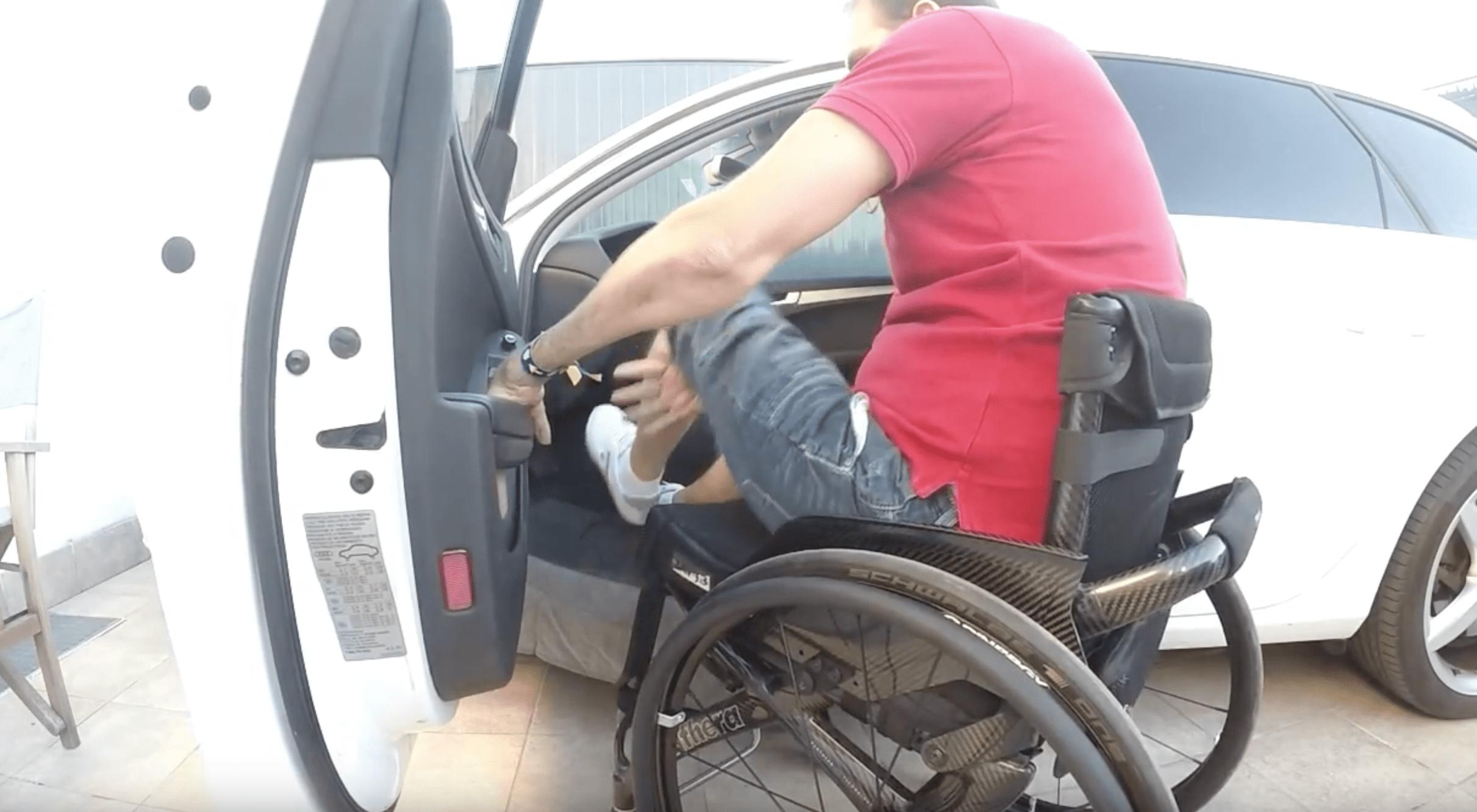 Transferencia tetrapléjico C7 a coche